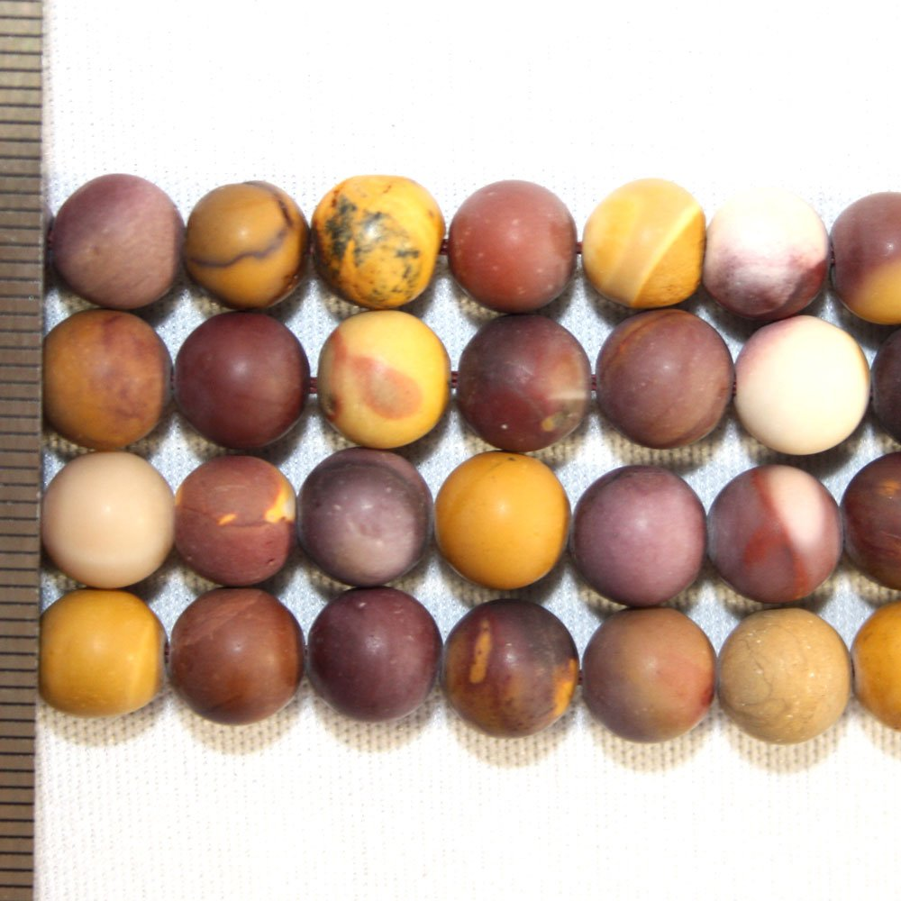 Mookaite Frosted Round 8mm