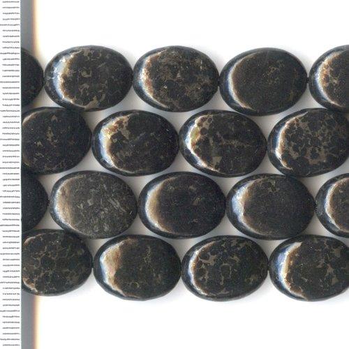 Pyrite Black Oval 12x16mm